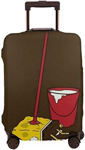 スーツケースカバー スポンジボブ 防水 傷防止 防塵 出張 旅行 キャリーカバー ラゲッジカバー かわいい トランクカバー おしゃれ S M L XL