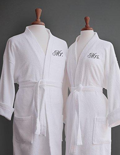 Luxor Linens - Terry Cloth Bathrobes - 100% Egyptian Cotton His   Her Bathrobe  Set - Luxurious e7c6ce074