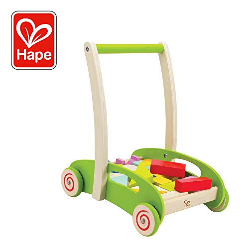 Hape Block and Roll Cart Toddler Wooden