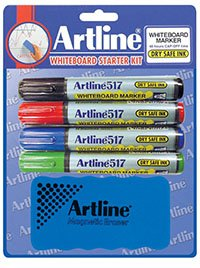 Amazon.com : Artline 517 Whiteboard Marker Starter Kit