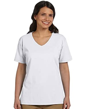 Hanes Ladies ComfortSoft V-Neck Cotton T-Shirt (Pack of 3)