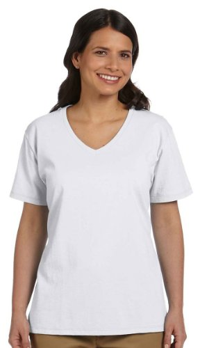 Hanes Women's Relax Fit Jersey V-Neck Tee 5.2 oz (Pack of 1) Size:Large (Dance V-neck Jersey)