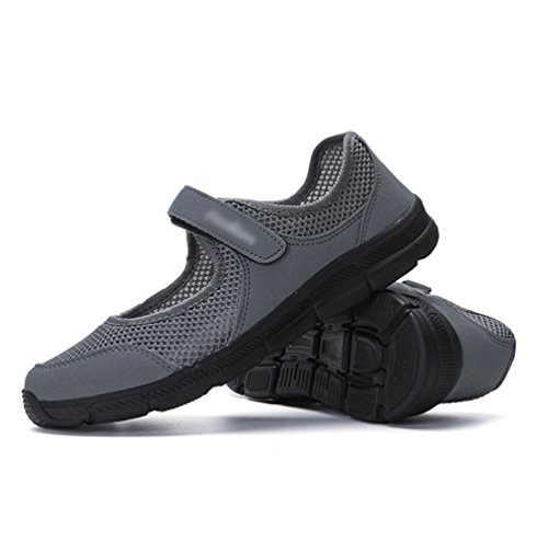 Flacher Grau Dunkel Chic Sneakers Leicht Schuhe Mesh Laufschuhe Damen Fitnessschuhe Sportschuhe Mund Hohl Yiiquanan OBRF7tqwn