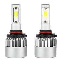 M-Egal 2pcs Car Headlight Bulbs Super Bright HID Xenon 9005/H10/HB3 70W 7000LM COB Chip LED Auto Bulb Headlamp 100w/bulb White