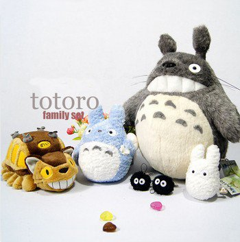 2015 New Peluche Totoro Catbus My Neighbor Totoro Family Plush Doll 6pcs/lot toys For