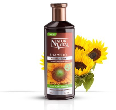 (Hair Shampoo Henna Chestnut - Colour and Shine - 300 Ml / Natural &)