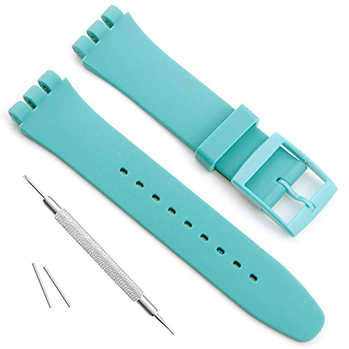 light blue silicone watch straps - 5