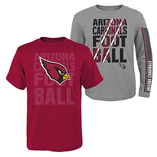 Outerstuff Arizona Cardinals Youth NFL Playmaker 3 in 1 T-Shirt Combo Set 3 T-shirt Combo Pack