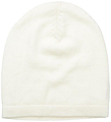 Phenix Cashmere 100% Cashmere Knit Slouchy Hat, Cream, One Size