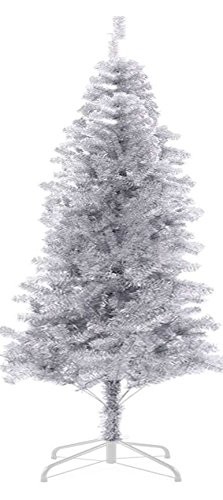 7 ft 720tips sparking gorgous tinsel chrismas tree silver - Silver Tinsel Christmas Tree