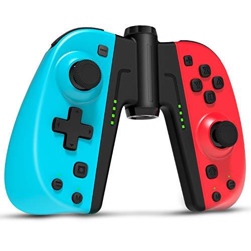 Gamory Joy Con Controller for Nintendo Switch, Wireless Switch Controllers, Set of 2, with Grip, Turbo, Programmable, Gyro Axis, Ergonomic L/R Switch Controller Joypad Compatible with Switch & Lite