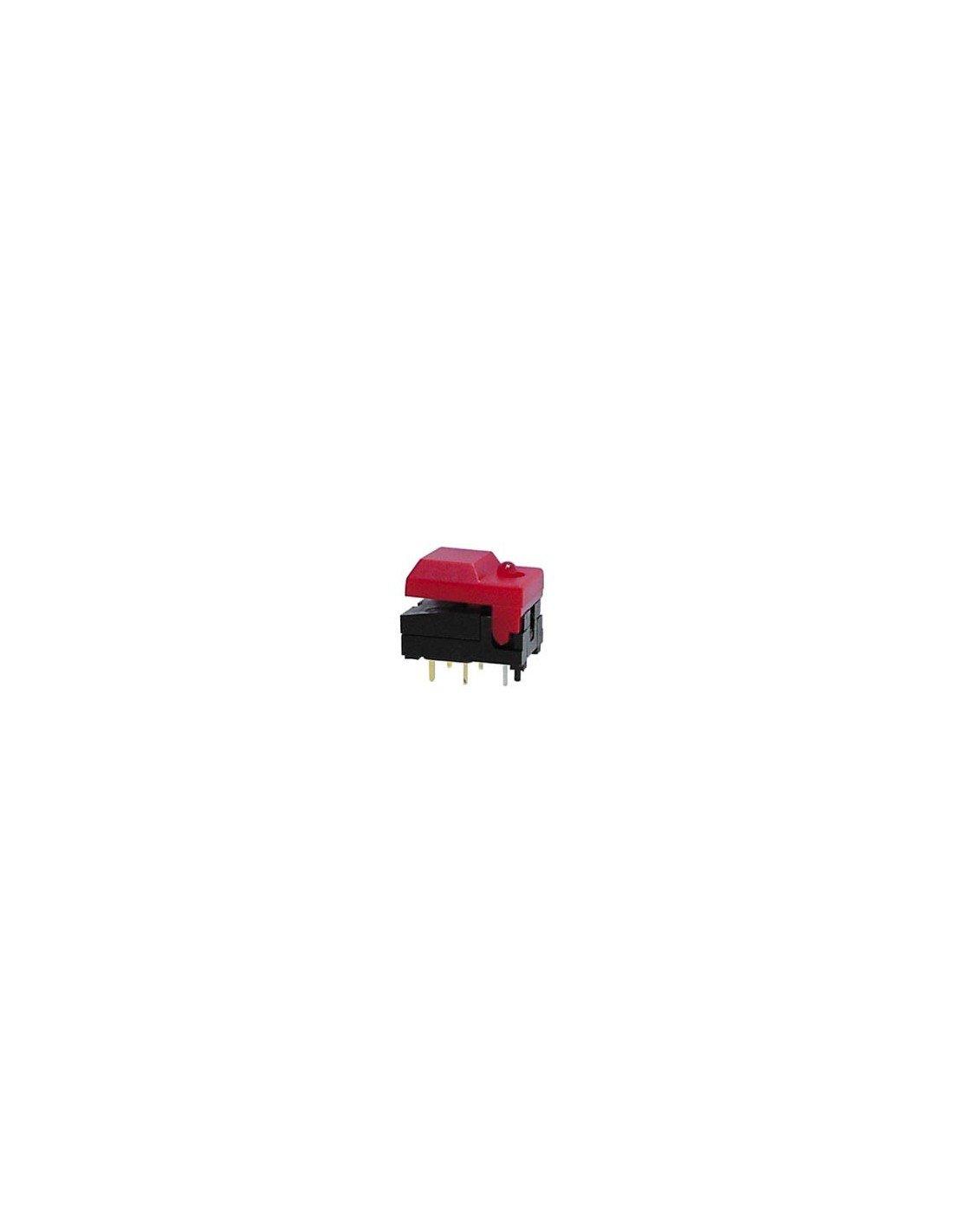 Perel 139771 Dip-Drucktaster, Digitast, rote Kappe