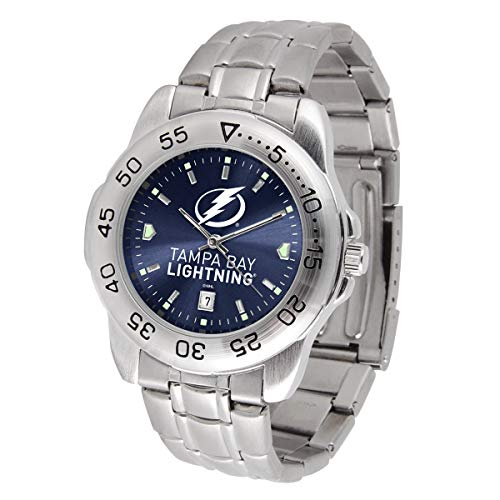 Game Time NHL Tampa Bay Lightning Mens Sport SteelWrist Watch, Team Color, One Size