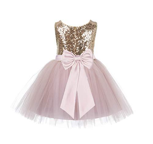 ekidsbridal Sequins Tulle Flower Girl Dress Birthday Girl