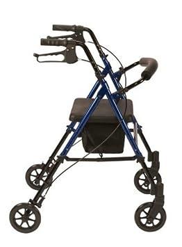 Asiento con andador Drive Medical R8BL-23 acolchado, aluminio, muy ligero, plegable color azul