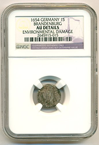 1654 DE German States Brandenburg Silver Schilling About Uncirculated Details NGC