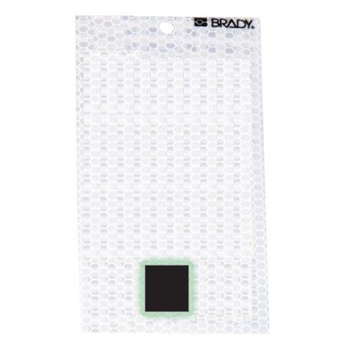 Brady 3010-PRD, 52303 Glow-In-The-Dark/Ultra Reflective Letter - Q, 12 Packs of 10 pcs