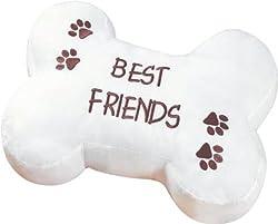 Bone-Shaped Throw Pillow, Best Friends