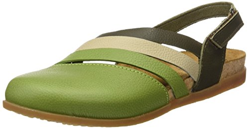El Naturalista Nf45 Soft Grain Zumaia, Sandalias con Punta Cerrada para Mujer Varios colores (Green Mixed)