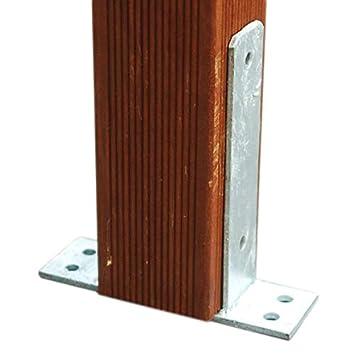 Gut Pfostenträger zum Aufdübeln für Pfosten 10x10 cm feuerverzinkt 101  RS94