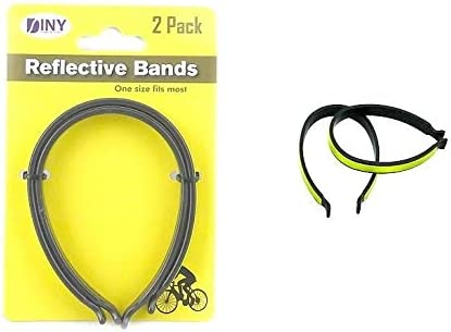 2pcs bike reflective ankle leg tape band cycling trousers pant clips strap JL