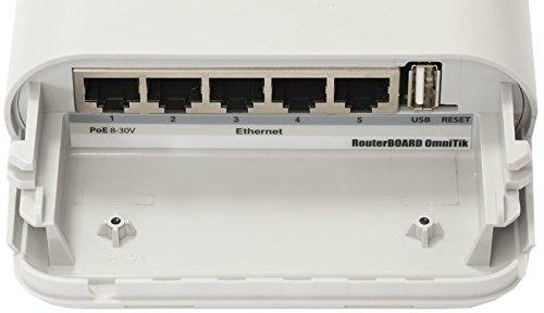 Mikrotik OmniTIK U-5HnD, RBOmniTikU-5HnD. Weatherproof outdoor wireless AP, router, client and bridge, POE, OSL4. by Mikrotik (Image #1)