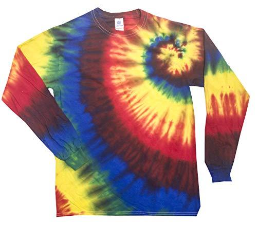 Colortone Tie Dye L/S XL Rainbow Burst