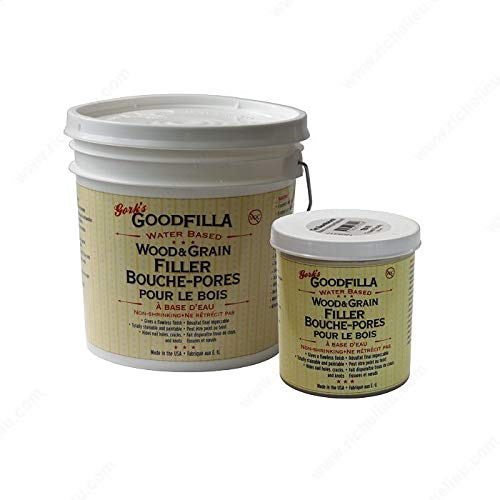 Water-Based Wood & Grain Filler - Red Oak - 1 Gallon by Goodfilla | Replace Every Filler & Putty | Repairs, Finishes & Patches | Paintable, Stainable, Sandable & Quick Drying