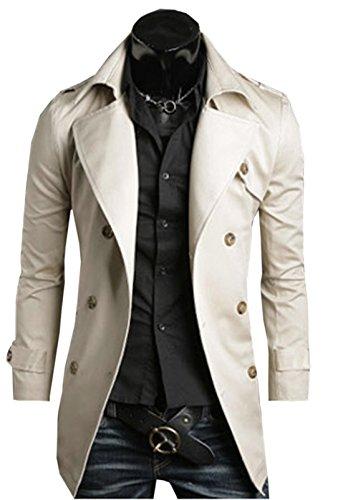 Herren mode Mantel Windbreaker Windjacke Jacke Winter Trenchcoat Parka Windbreaker Outdoorjacke Jacket Coat