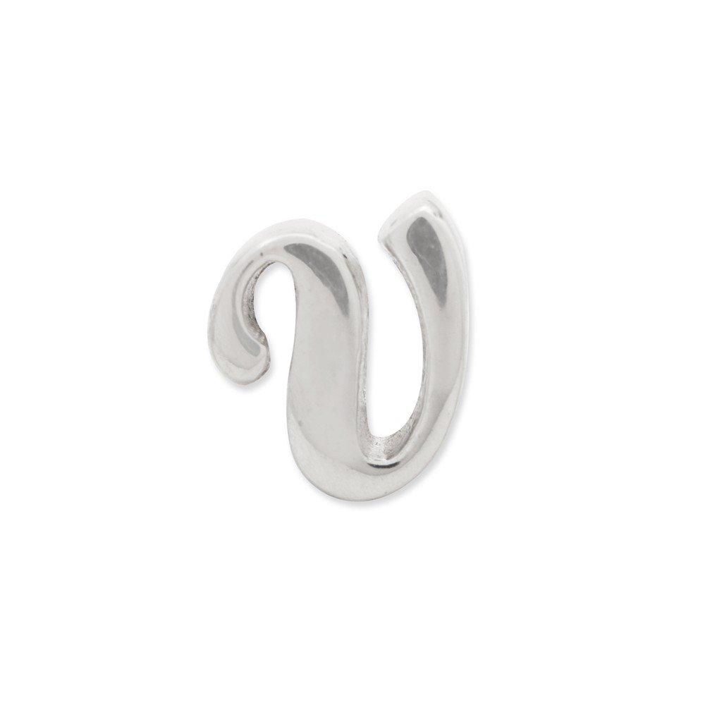 925 Sterling Silver Reflections Letter V Script Bead