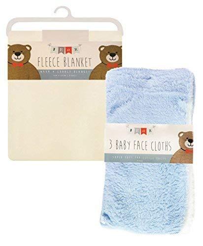 LotMart bebé suave manta de forro polar de mano con bebé recién ...