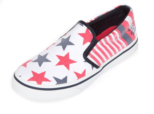 Quiksilver , Mädchen Sneaker, Rot - Red White Navy - Größe: 5 UK Toddler