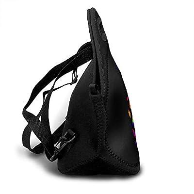 .com - SARA NELL Neoprene Colorful Pineapple Lunch Bag Insulated Summer Fruit Rainbow Pineapple Lunch Backpack Lunchbox Handbag with Adjustable Shoulder Strap Best Gift for Men Women Teen Boys Girls -
