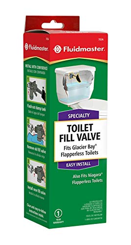 Fluidmaster 703AP4 Specialty Toilet Fill Valve for Glacier Bay and Niagara Conservation Flapperless Toilets