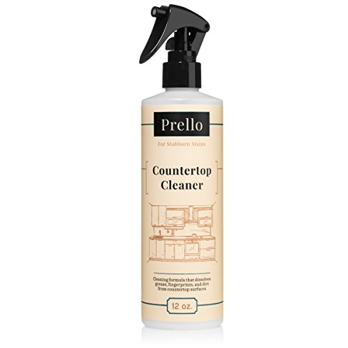 Prello Countertop Cleaner Spray for Corian, Granite & Stone Surfaces 12 Oz | Unscented, Non-Toxic, Surfactant Free