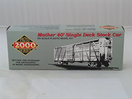 Walthers Proto 2000 - Life-Like Proto 2000 Mather 40' Single Deck Stock Car Unassembled Kit