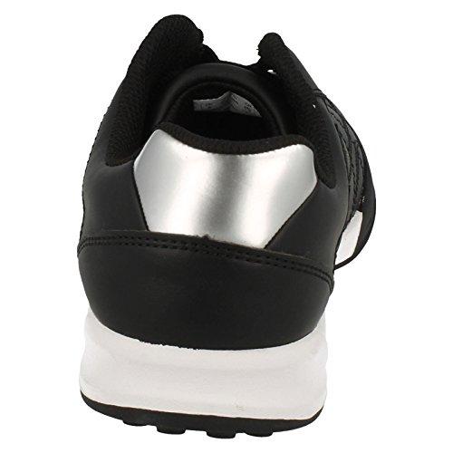 Clarks Swerve Cue - Zapatillas de Piel para Niño Negro Negro Banftldhd