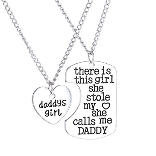 Daddy Costumes Big Velvet (Vanvler 2PC Family Charm Gifts Heart Love Hot Necklace Pendant Set Present)