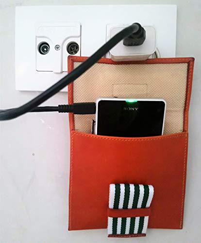 1 und Soporte cargador móvil, Phone Hanger, Piel color Miel + ...