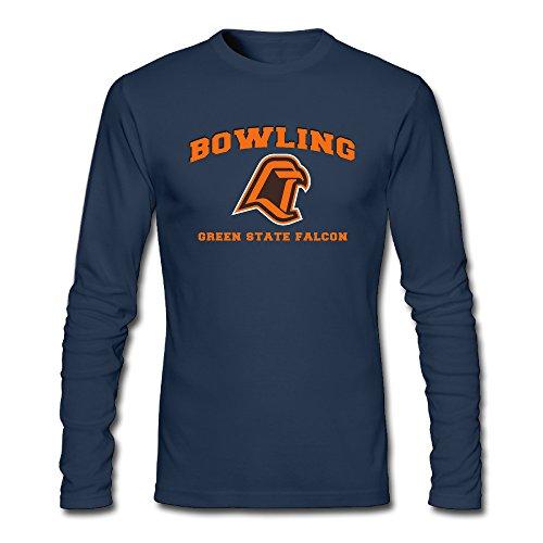 Men's Fashion Bowling Green State Falcons 1 Long-sleeve T Navy US Size XXL