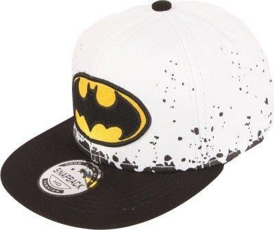 ilu kid s cotton batman snapback hiphop cap white and black freesize