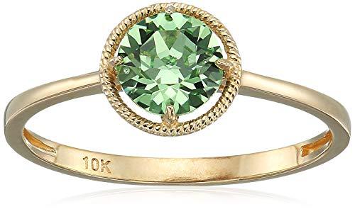 10k Gold Swarovski Crystal August Birthstone Ring, Size 8