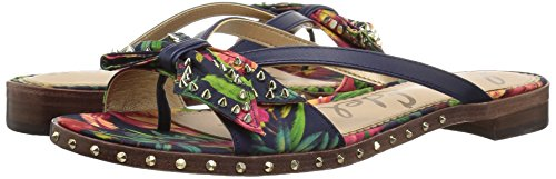 Dariel Navy Bouquet Open Toe Casual Sam Multi Edelman Womens Sandals Slide Print 8x1q4w6