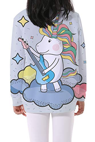 EnlaMorea Kids' Casual Unicorn Hoodie Sweatshirt for Boys Girls,Music Unicorn,11-12 Years by EnlaMorea (Image #2)