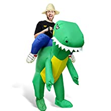 Inflatable Costume Dinosaur Halloween T-REX Party Fancy Dress Cosplay for Adult Kid (Adult)