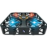 E-SCENERY Mini Remote Control 2.4G 6-Axis Gyro 4CH 3D Flip Quadcopter, RC RTF Micro Drone, USB Rechargeable Battery, Without Camera (Black)