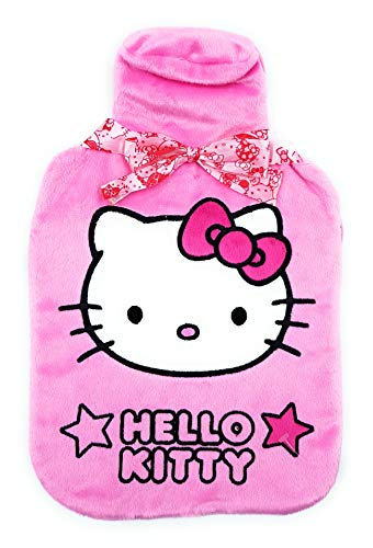 (Genuine Sanrio Hello Kitty 'Pink Graphic Traffic' Hot Water Bottle and Cover)