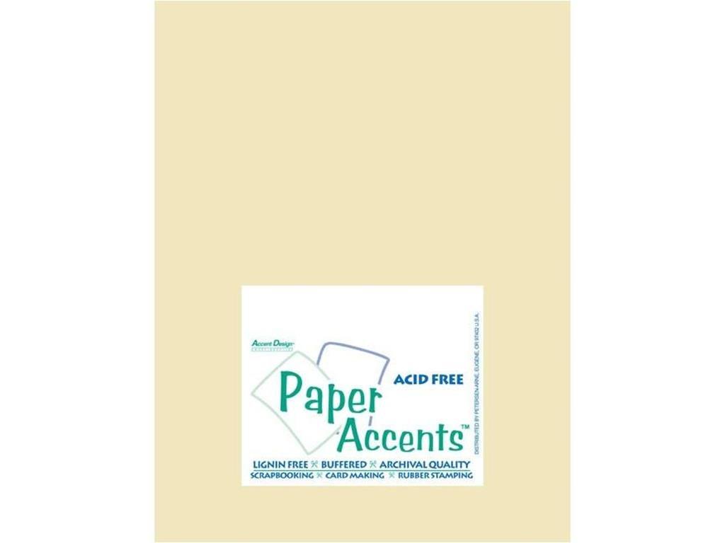 Accent Design Paper Accents ADPaperVellum8.5x11Ivory Vellum 8.5x11 27# Ivory
