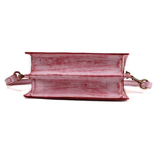 Del Hombro Mujeres Niebla Rojo Cera Las Cuero Retro Xuanbao Travelbags Moda Monedero Señoras Embrague De La Shoulder Bolso Cartera Cosméticos Bolsa Mensajero Muñeca Tote xzIng6PW
