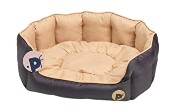 42471feabef5 Image Unavailable. Image not available for. Colour: Petface Waterproof  Oxford Pet Bed Puppy Dog Luxury Bedding Reversible Cushion - Oval ...
